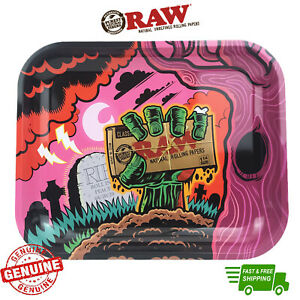 RAW Rolling Tray Zombie Limited Edition Metal Tray with Certificate Rolling Tray
