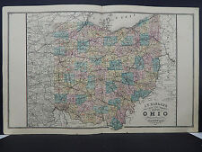 Ohio, Antique State Map, 1886 N1#32