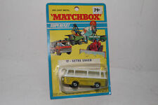 MATCHBOX SUPERFAST #12 SETRA COACH BUS, GOLD, CLEAR WINDOWS, NEW IN BLISTERPACK