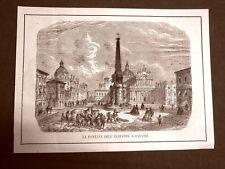 Catania nel 1865 Fontana dell'elefante Henry John Temple III visconte Palmerston