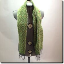 V Fraas Germany Green  Diamond Pattern Scarf
