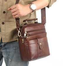 Men's Fashion Genuine Leather Business Shoulder Messenger Cross Bag Handbag Tote