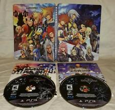 Playstation 3 Kingdom Hearts 1.5 HD REMIX + 2.5 HD ReMIX Steelbook Collector ps3