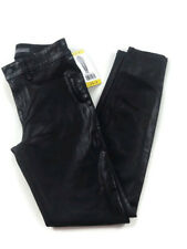 Womens Level 99 Black Mid Rise Coated SKINNY Jeans Pants Size 28 / 6