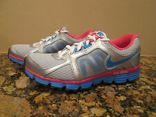 NIKE Girls Youth Dual Fusion ST 2 Silver Blue Pink (GS) SIZE 4.5Y  456970 010