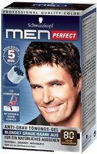 Schwarzkopf Men Perfect - For Men - Gentle Hair Color Gel - Black Brown 80