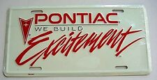 55-2013 Pontiac GTO Firebird Front or Rear Bumper License Plate Metal Embossed