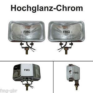 2x Fernlichtscheinwerfer Zusatzscheinwerfer Halogen 12V 55W Fern Scheinwerfer
