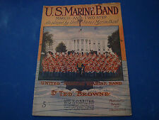 U.S. Marine Band March Sheet Music 1911 Ted Browne United States Marine Band