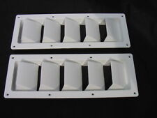 """WHITE NEW RECTANGULAR BOAT VENT LOUVER 13-1/4 X 4-3/4 """" NEW ! PAIR! fit sea ray"""