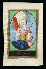 santino miniatura  PERGAMENA 1700 S.REGINA DI ALISE V.M.