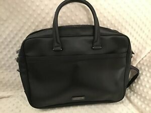 Calvin Klein Black Leather Bag / Briefcase / Laptop Bag BNWOT