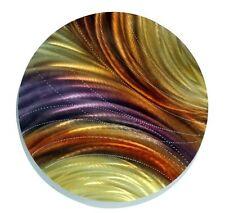 Golden Jewel-Tone Round Metal Wall Art Accent - Fields of Wheat by Jon Allen  sc 1 st  eBay & Art Abstract Wall Sculptures | eBay