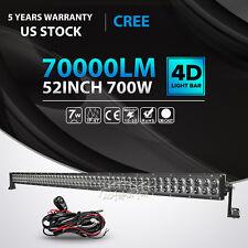 "4D+ 52INCH 700W LED LIGHT BAR COMBO OFFROAD 4WD DRIVING JEEP TRUCK ATV UTV 50"""