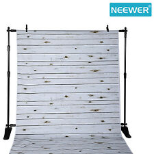 Neewer 5x7ft Polyester White Washed Wood Backdrop Background,