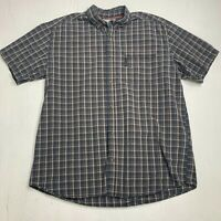 Columbia Short Sleeve Plaid Collared Button Down Casual Shirt Mens Size XL