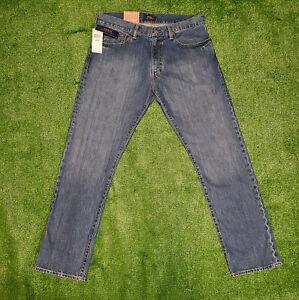 NEW Polo Ralph Lauren Men Hampton Straight Stanton 32 X 32 Blue Jeans Ret $90