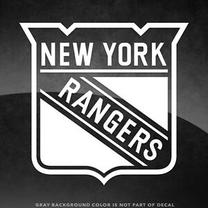 """New York Rangers Vinyl Decal Sticker - 4"""" and Larger - 30+ Color Options!"""
