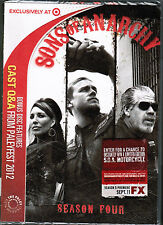 FX's SONS OF ANARCHY: Season 4 [TARGET-EXCLUSIVE 4-DVD SET, 2012] - NEW! 13 eps