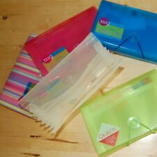 One 7 Pocket Coupon Organizer Holder Accordion File Wallet - your color choice