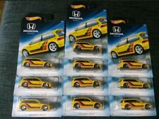 2018 Hot Wheels *Lot Of 10* HONDA Series Yellow '90 Honda Civic EF - MINT