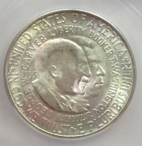 1953-S WASHINGTON / CARVER SILVER 50 CENTS ICG MS 65 LISTS FOR $60!!