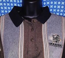 Purdue Boilermakers Gray/Brown Striped Coach's Polo Shirt EUC - Womens Medium