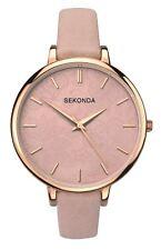 Sekonda reloj de mujer de tono Rosa Dorado Esfera floral desnuda Correa Rosa