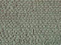 Muro in pietra rettangolare per modellismo HO - 1/87 cm.22X13 - Krea