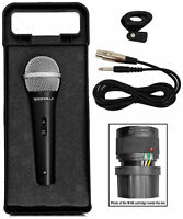 "Rockville RMC-XLR High-End Metal DJ Handheld Wired Microphone Mic w 1/4"" Cable"