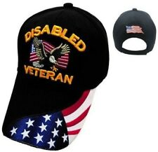 12b21e1b28f Disabled Veteran hat ballcap cap Eagle   USA Flag army marine navy air force