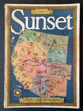 Sunset Magazine May 1928 1920's Lifestyle Travel  Recipes Gardening Ads