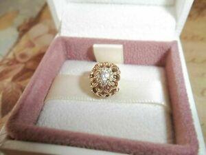 Genuine Authentic Pandora 14ct Gold Floral Brilliance Openwork Charm - 750836CZ