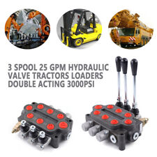 3 Spool 25 Gpm Hydraulic Valve Double Acting Tractors Loaders 3000psi 90lmin