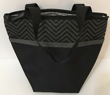 Pampered-Chef On-The-Go Insulated Lunch Tote #1273 Gray Chevron New