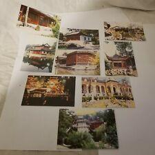 xuyuan garden China lot of 8 postcards folder