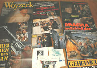5 x A1Filmplakate,1+kl.PLAKAT,2 AHF,2 WERBERADSCHLÄGER,von KLAUS KINSKI,SAMMLUNG