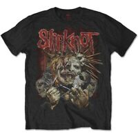 Official Slipknot T Shirt Torn Apart Mens Black Classic Rock Metal Tee Merch NEW