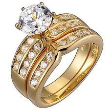 Modeschmuck-Ringe mit Cubic Zirkonia-Haupstein für Damen