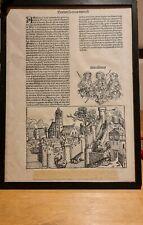 More details for framed original leaf from the 1493 nuremberg chronicle