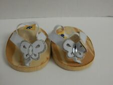Build A Bear ~ Faux Wood Sandals w/White Butterfly