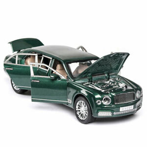 1:24 Bentley Mulsanne Limousine Model Car Diecast Vehicle Collection Green Gift