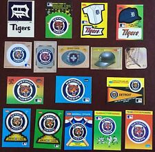 DETROIT TIGERS FLEER LOGO STICKERS CARD LOT of 17 ALL DIFF. ALL N/MINT OR BETTER