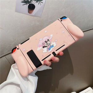 Cute Pink Cartoon Minnie mickey Nintendo Switch case Skin Shell Protective cover