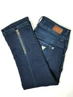 GUESS Womens Ultra Low Rise Cropped Capri Jeans Dark Wash Size 24 (00)