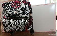 COACH BLACK WHITE DAISY FLORAL GRAFFITI BACKPACK 16582 bag pack