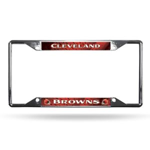 Cleveland Browns NFL Chrome EZ View 4 corner License Plate Frame