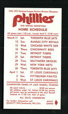 Philadelphia Phillies--1978 Spring Training Pocket Schedule