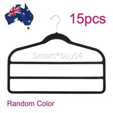 15x Velvet Hangers Clothes Hanger Trouser Pant Rack Coat Organizer Space Saver