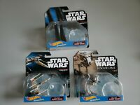 Star Wars Starships Lot of 3 Command Shuttle, X-Wing & AT-ST Hot Wheels